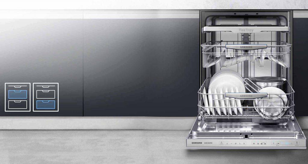 خرید ظرفشویی بخار شور دار سامسونگ 14 نفره مدل 8550