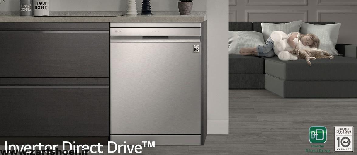 خرید ماشین ظرفشویی ۱۴ نفره ال جی مدل DFB512FW از بانه